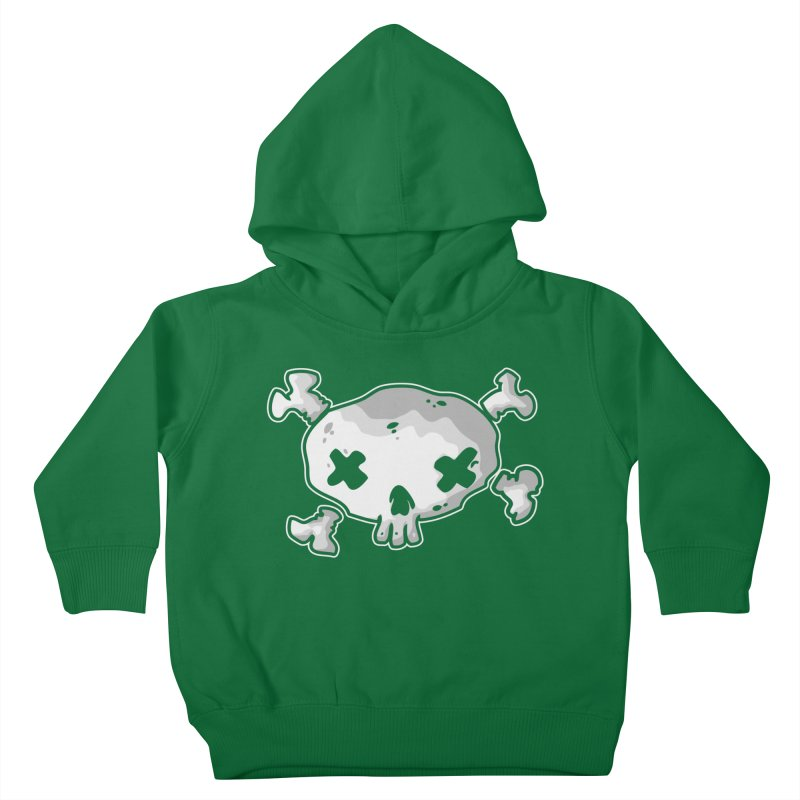 pirate skull Kids Toddler Pullover Hoody by manuvila