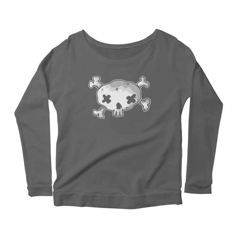 pirate skull Women's Scoop Neck Longsleeve T-Shirt by manuvila