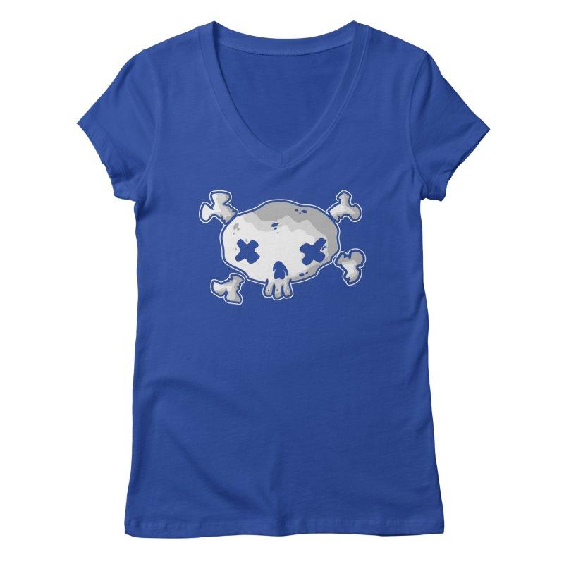 pirate skull Women's Regular V-Neck by manuvila