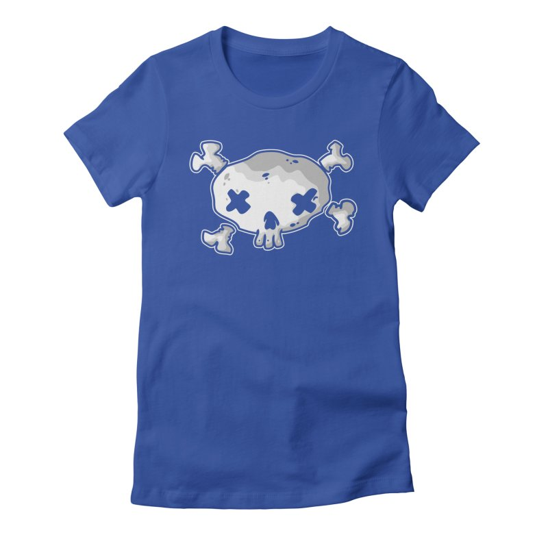 pirate skull Women's Fitted T-Shirt by manuvila