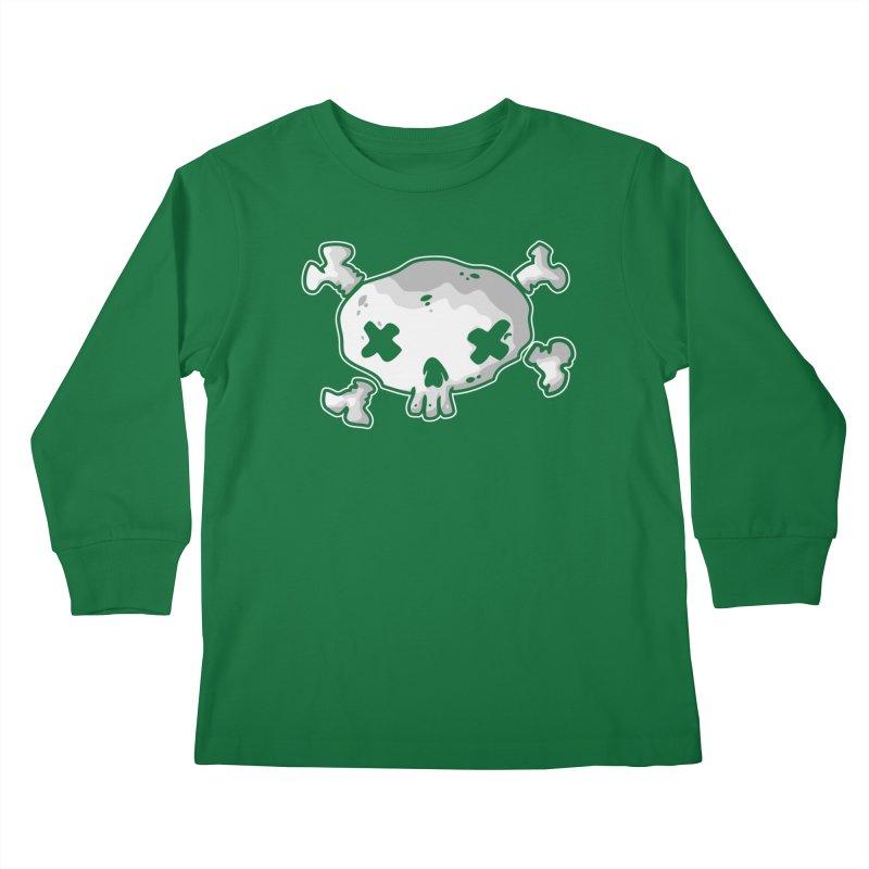 pirate skull Kids Longsleeve T-Shirt by manuvila