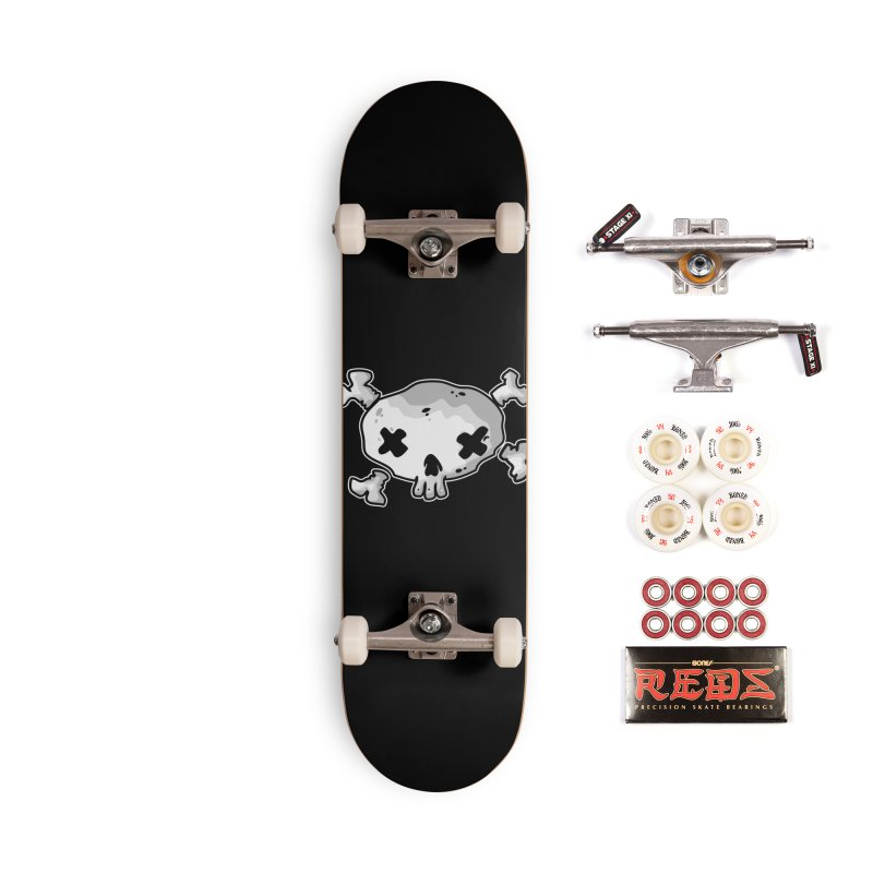 pirate skull Accessories Complete - Pro Skateboard by manuvila