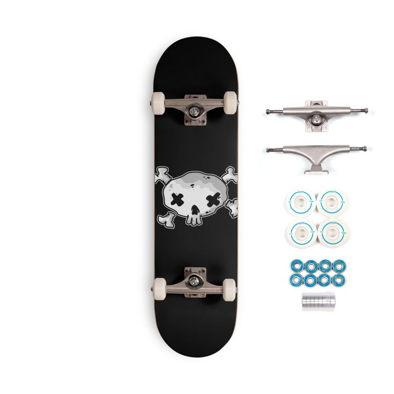 pirate skull Accessories Complete - Basic Skateboard by manuvila