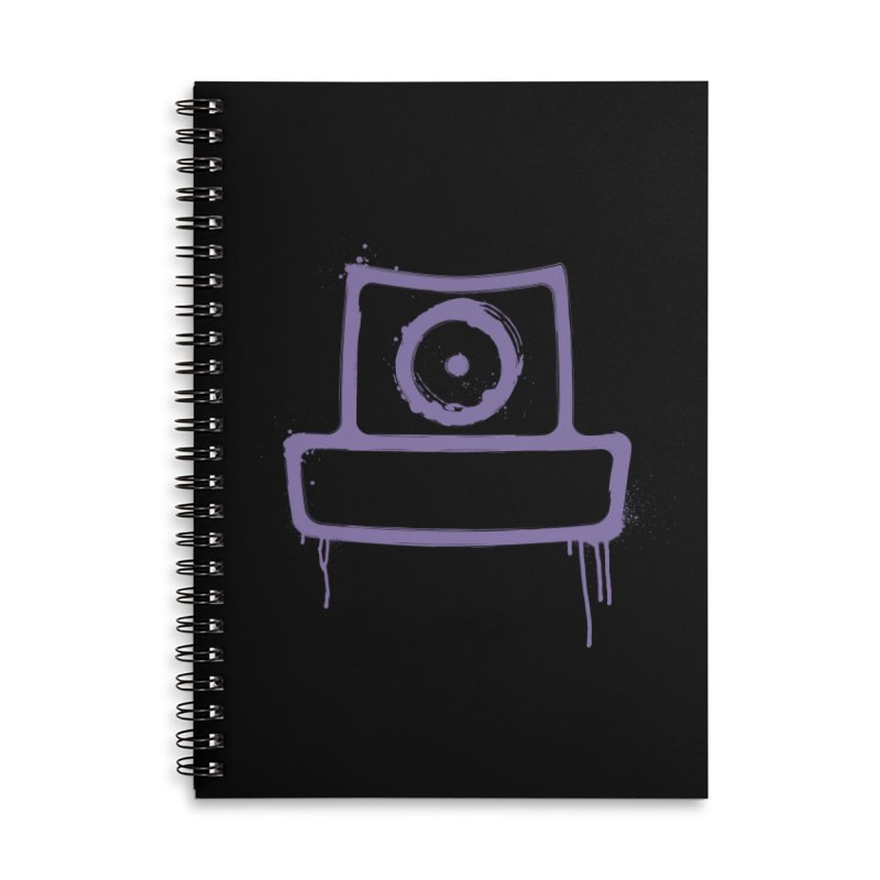 spray can Accessories Lined Spiral Notebook by manuvila