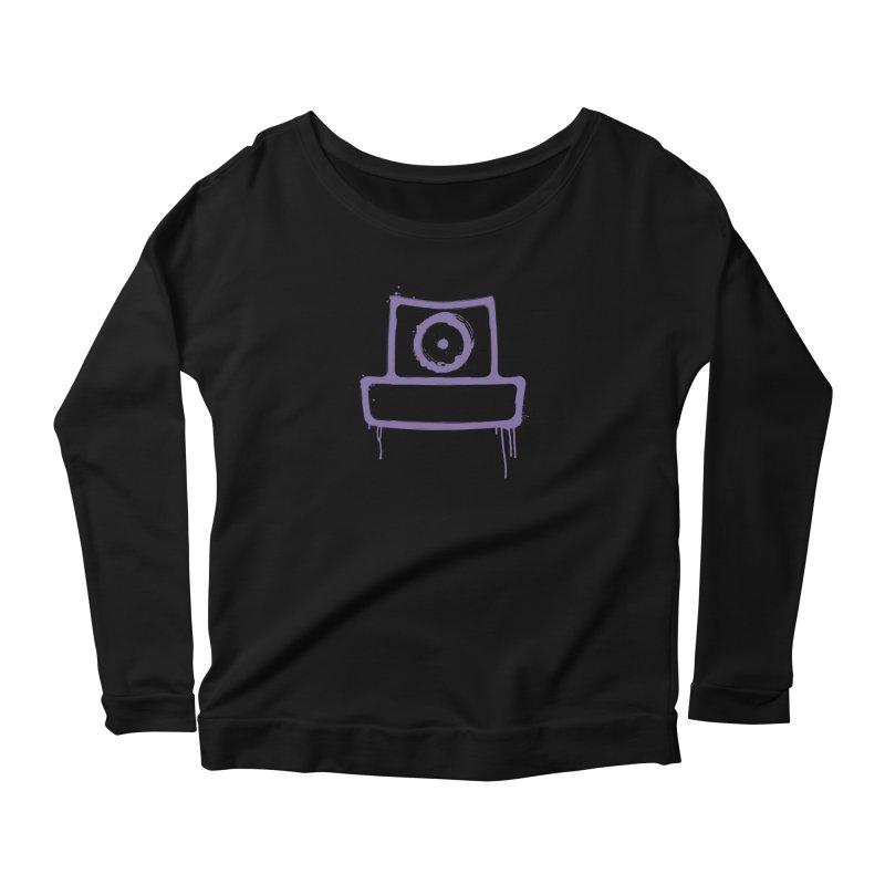 spray can Women's Scoop Neck Longsleeve T-Shirt by manuvila