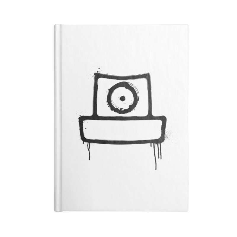 spray can black Accessories Blank Journal Notebook by manuvila