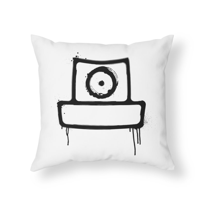 spray can black Home Throw Pillow by manuvila