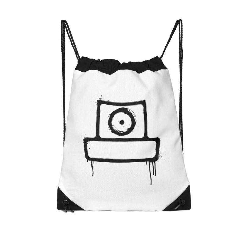 spray can black Accessories Drawstring Bag Bag by manuvila