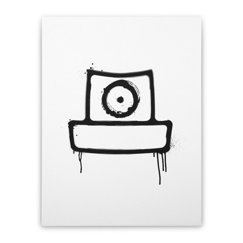 spray can black Home Stretched Canvas by manuvila