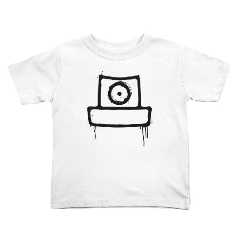 spray can black Kids Toddler T-Shirt by manuvila