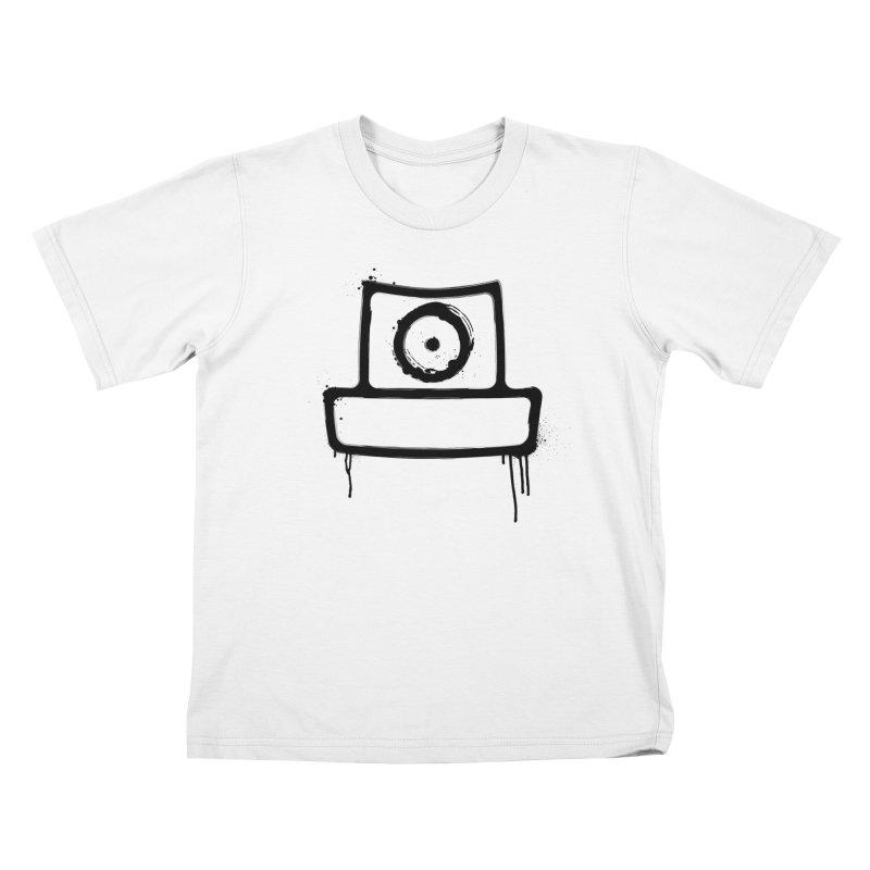 spray can black Kids T-Shirt by manuvila