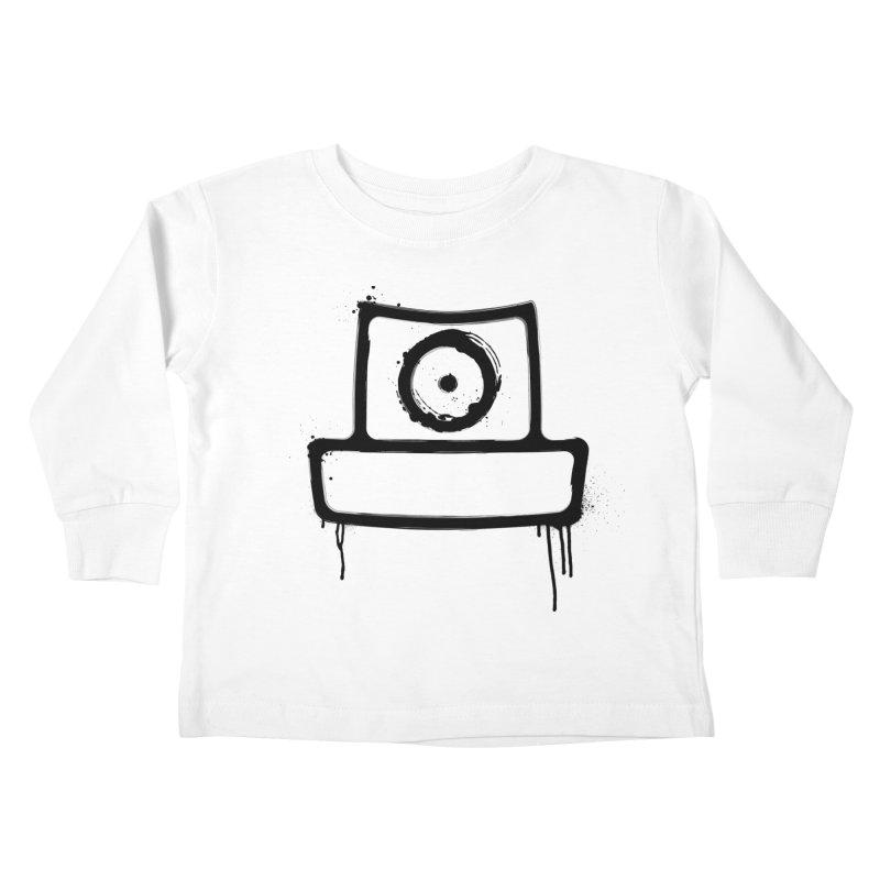 spray can black Kids Toddler Longsleeve T-Shirt by manuvila