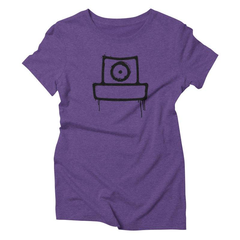spray can black Women's Triblend T-Shirt by manuvila