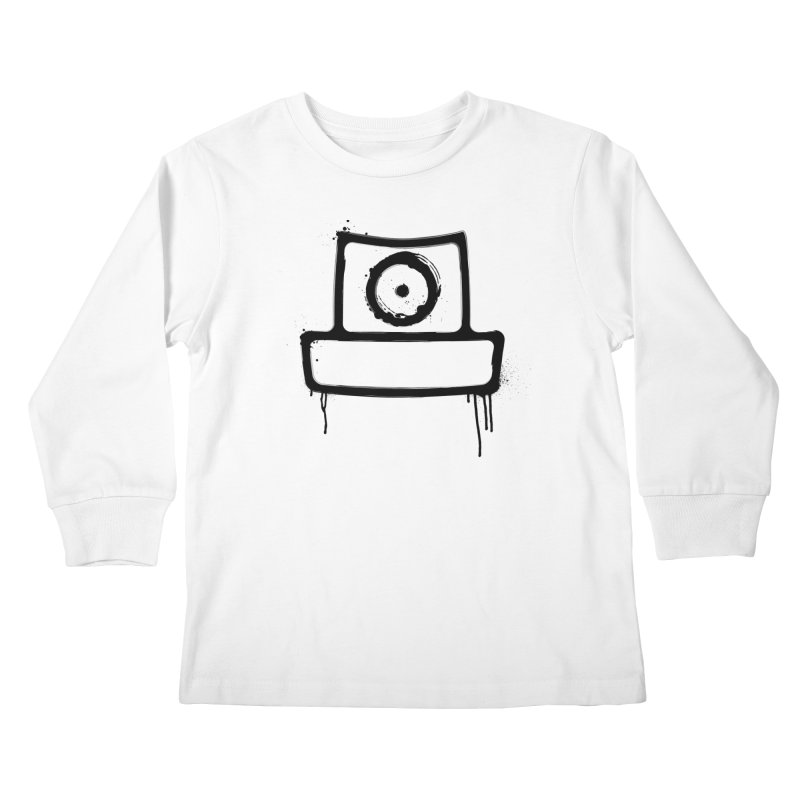 spray can black Kids Longsleeve T-Shirt by manuvila