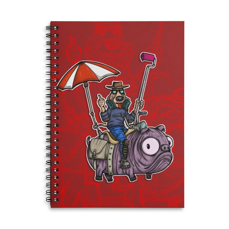 dog paint Accessories Lined Spiral Notebook by manuvila