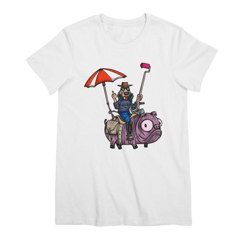dog paint Women's Premium T-Shirt by manuvila