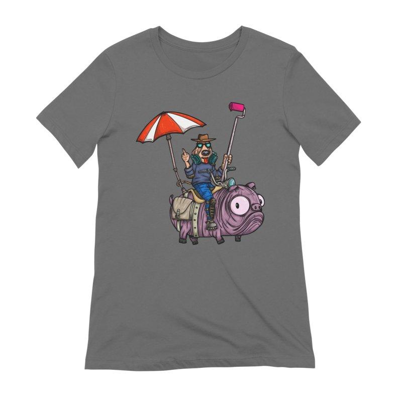 dog paint Women's Extra Soft T-Shirt by manuvila