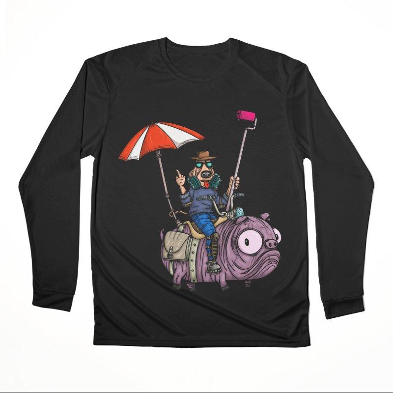 dog paint Men's Performance Longsleeve T-Shirt by manuvila