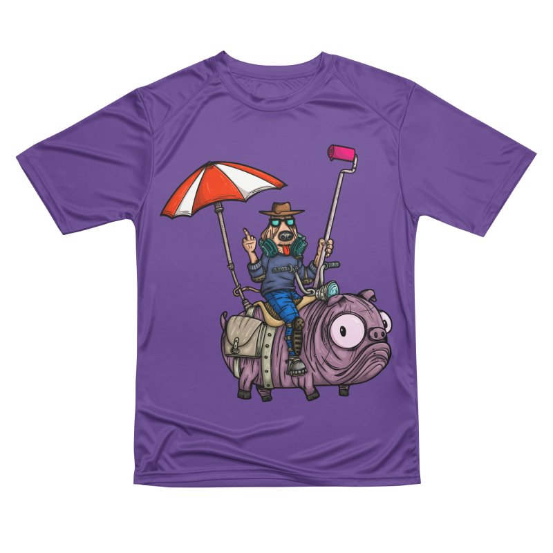 dog paint Men's Performance T-Shirt by manuvila