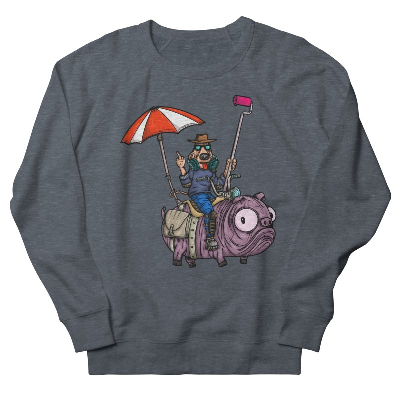 dog paint Men's French Terry Sweatshirt by manuvila