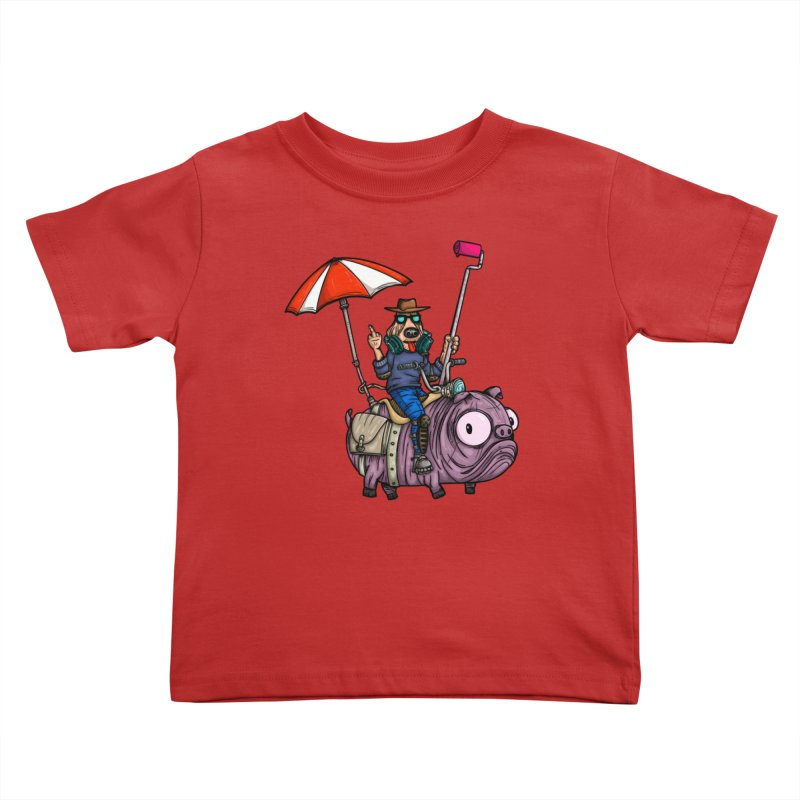 dog paint Kids Toddler T-Shirt by manuvila
