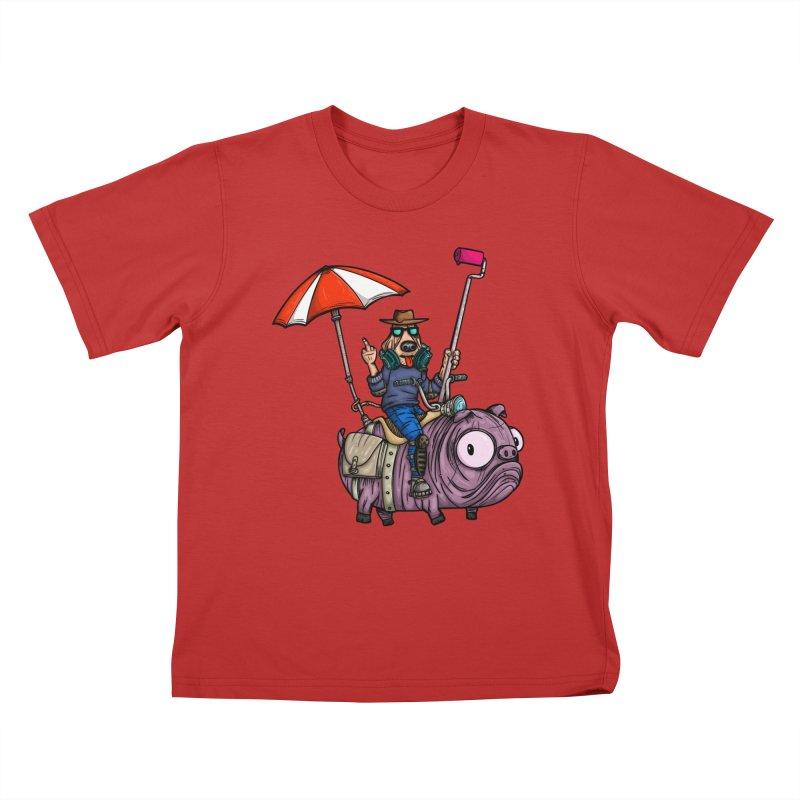 dog paint Kids T-Shirt by manuvila