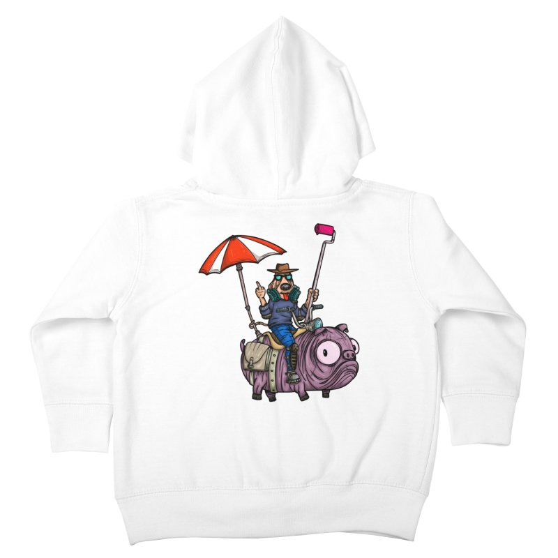 dog paint Kids Toddler Zip-Up Hoody by manuvila
