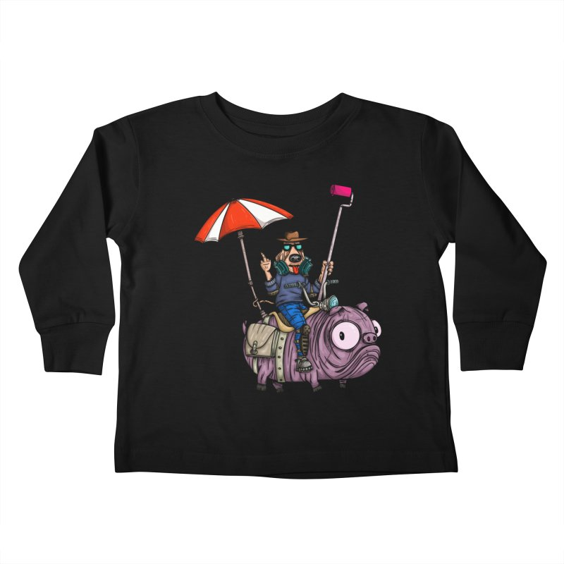 dog paint Kids Toddler Longsleeve T-Shirt by manuvila