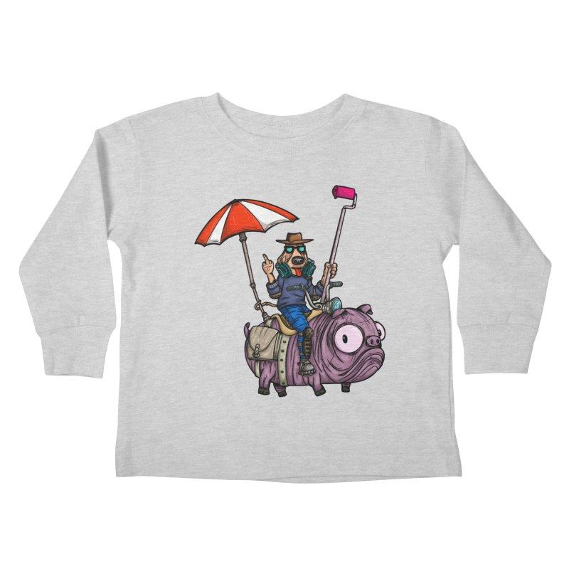 dog paint Kids Toddler Longsleeve T-Shirt by manuvila