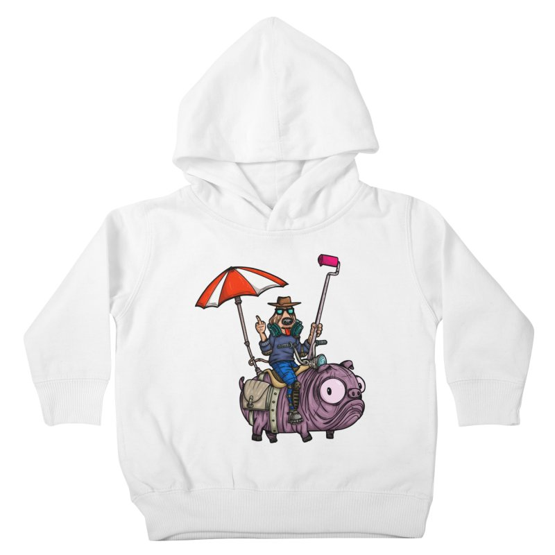 dog paint Kids Toddler Pullover Hoody by manuvila