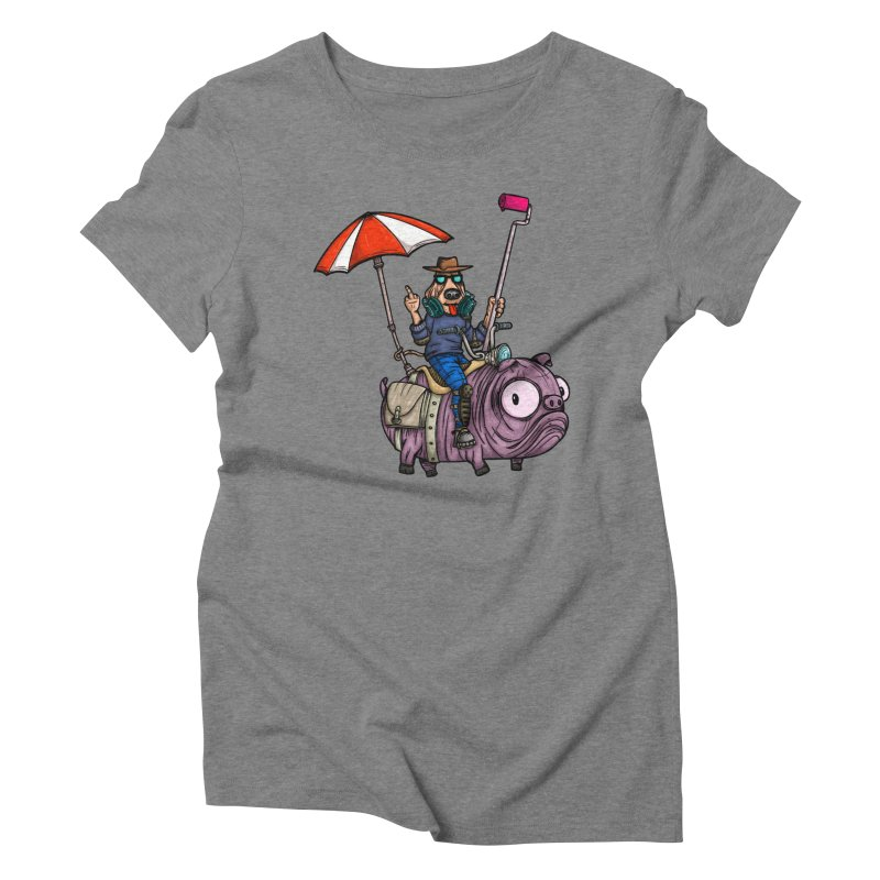 dog paint Women's Triblend T-Shirt by manuvila