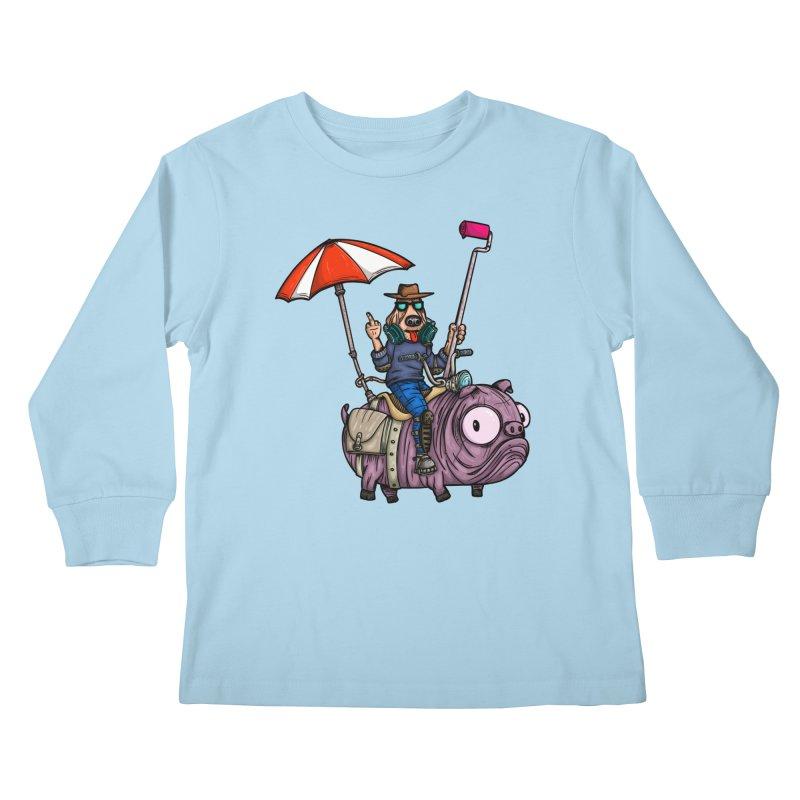 dog paint Kids Longsleeve T-Shirt by manuvila