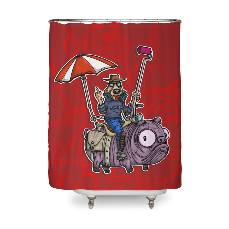 dog paint Home Shower Curtain by manuvila