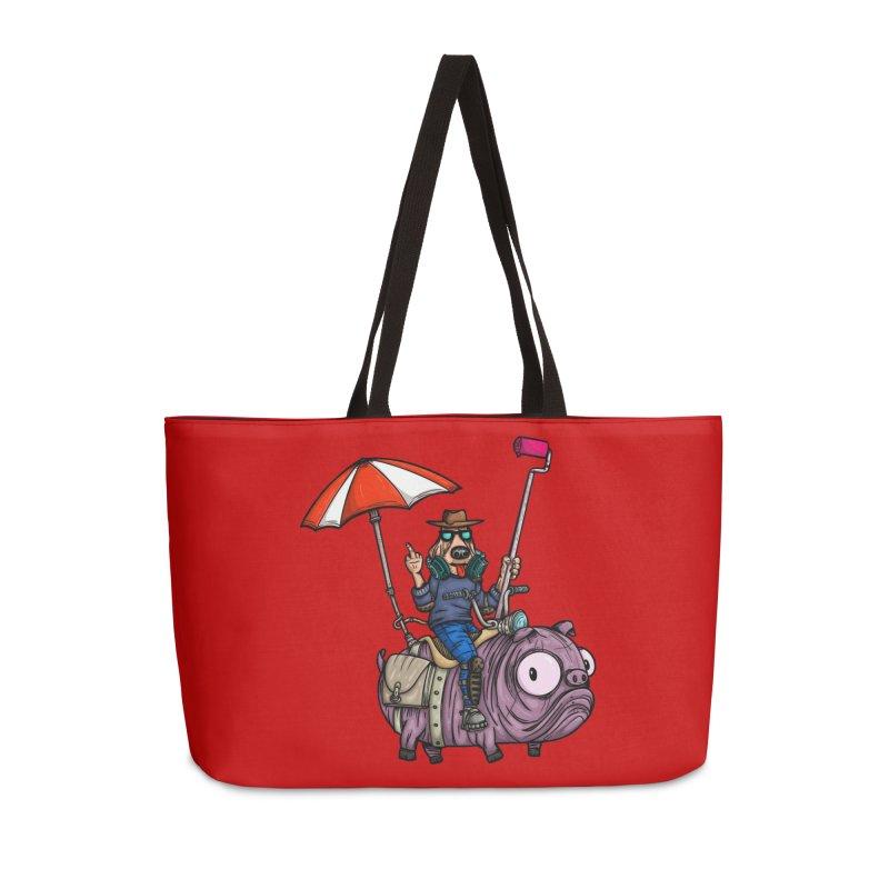 dog paint Accessories Weekender Bag Bag by manuvila