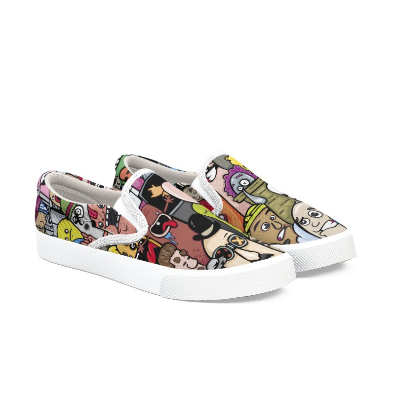 color doodle Men's Slip-On Shoes by manuvila