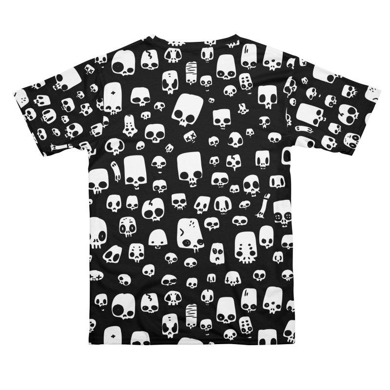 mini skulls pattern black Men's Cut & Sew by manuvila
