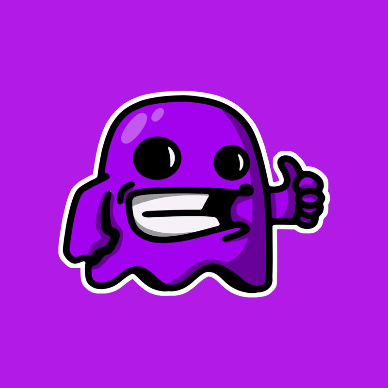 ghost like purple Men's T-Shirt by manuvila