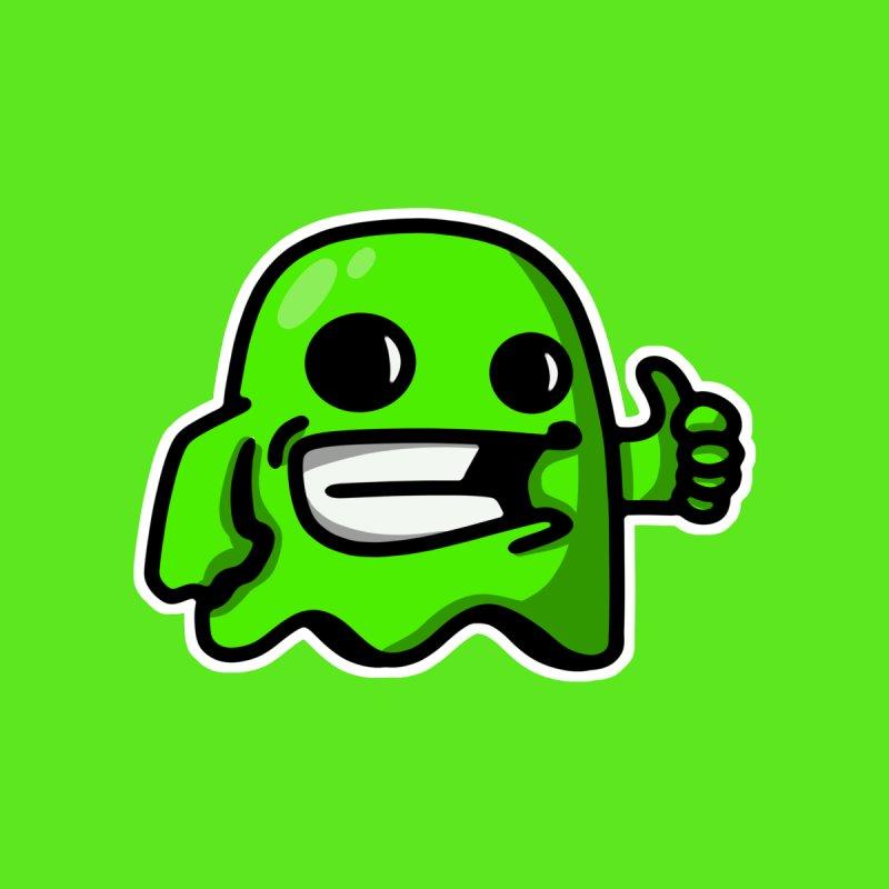 green ghost like Men's T-Shirt by manuvila