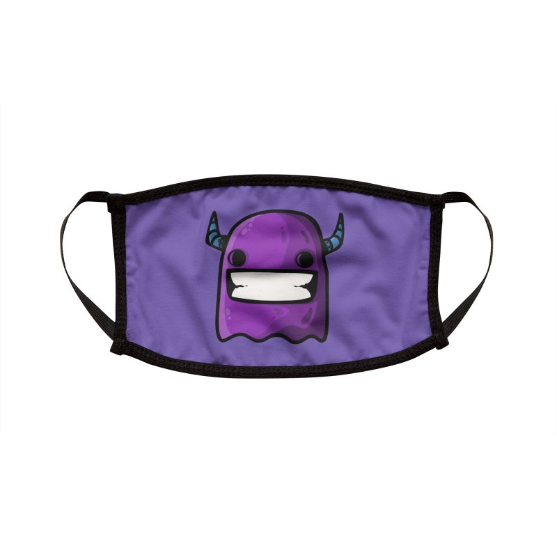 horned ghost purple Accessories Face Mask by manuvila