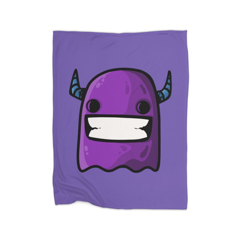 horned ghost purple Home Blanket by manuvila