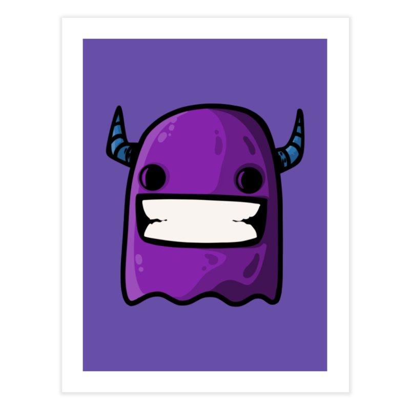horned ghost purple Home Fine Art Print by manuvila