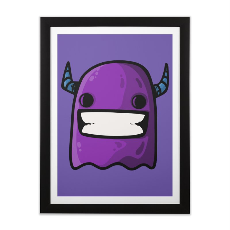horned ghost purple Home Framed Fine Art Print by manuvila