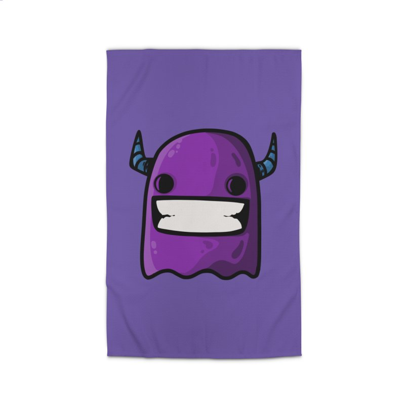 horned ghost purple Home Rug by manuvila