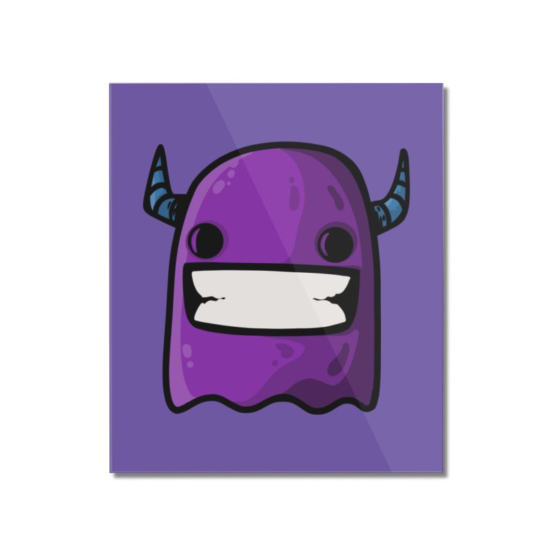 horned ghost purple Home Mounted Acrylic Print by manuvila