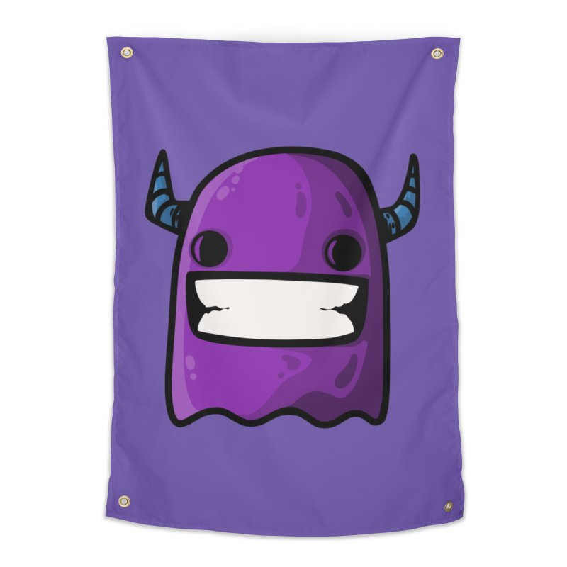 horned ghost purple Home Tapestry by manuvila