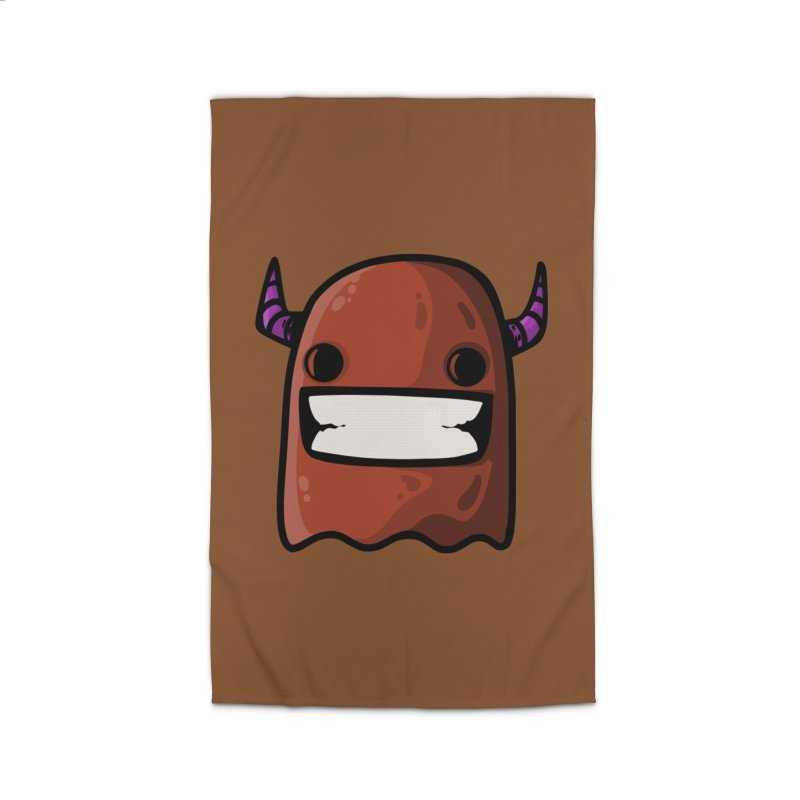 horned ghost brown Home Rug by manuvila