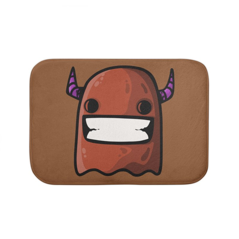 horned ghost brown Home Bath Mat by manuvila