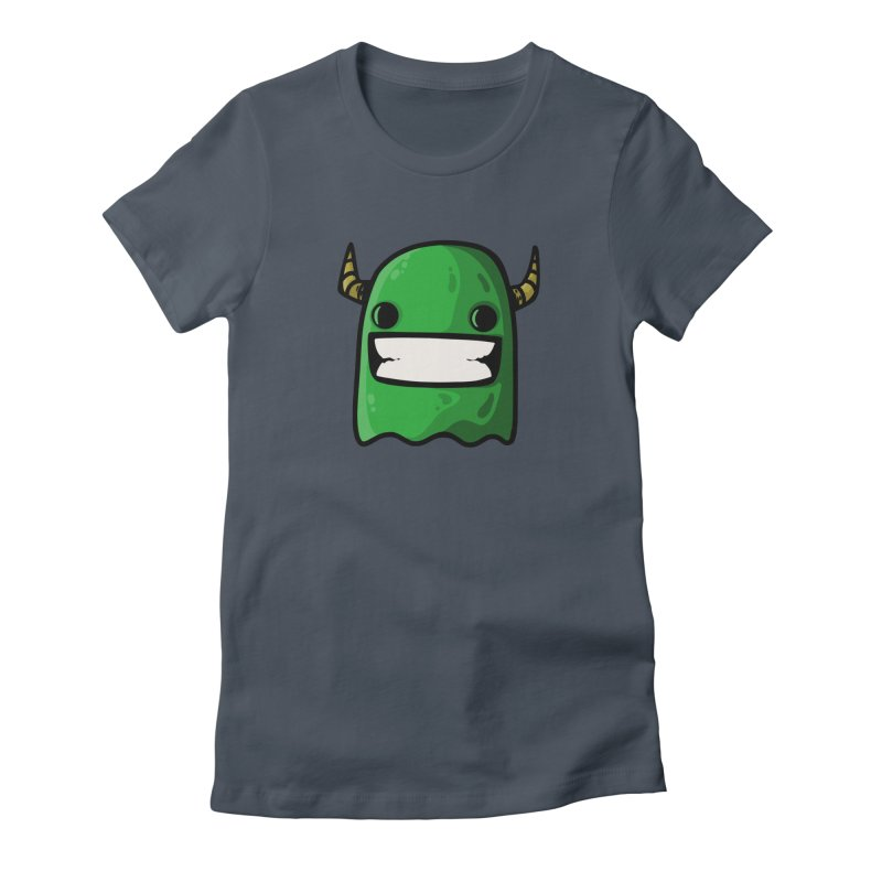 horned ghost green Women's T-Shirt by manuvila
