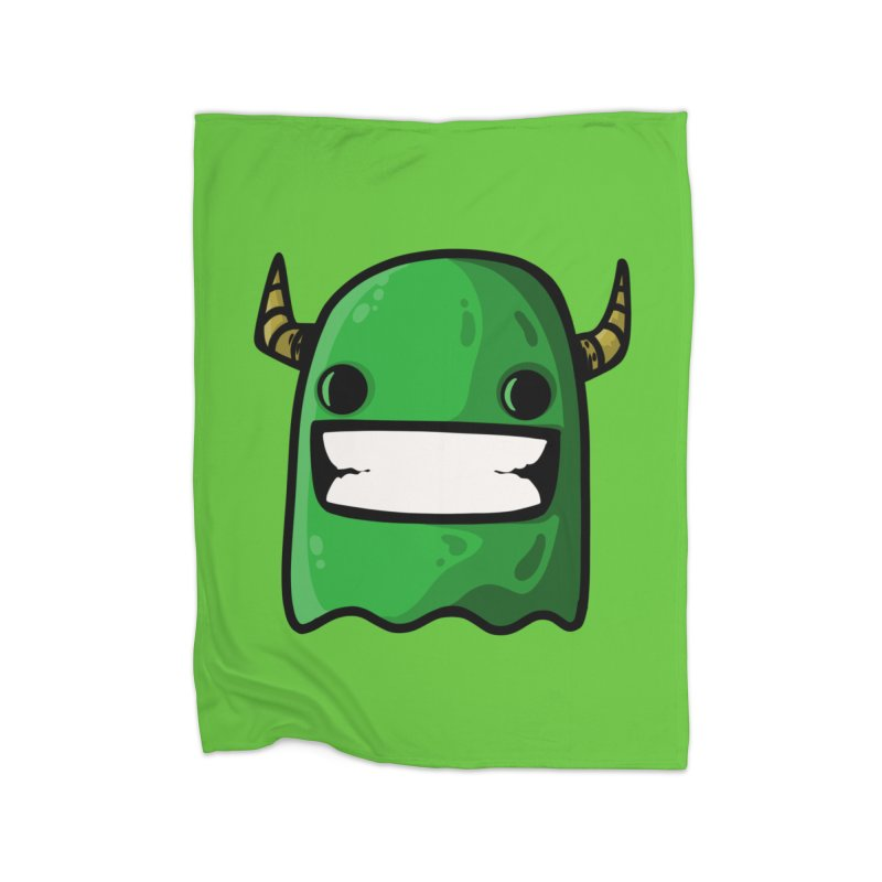 horned ghost green Home Blanket by manuvila