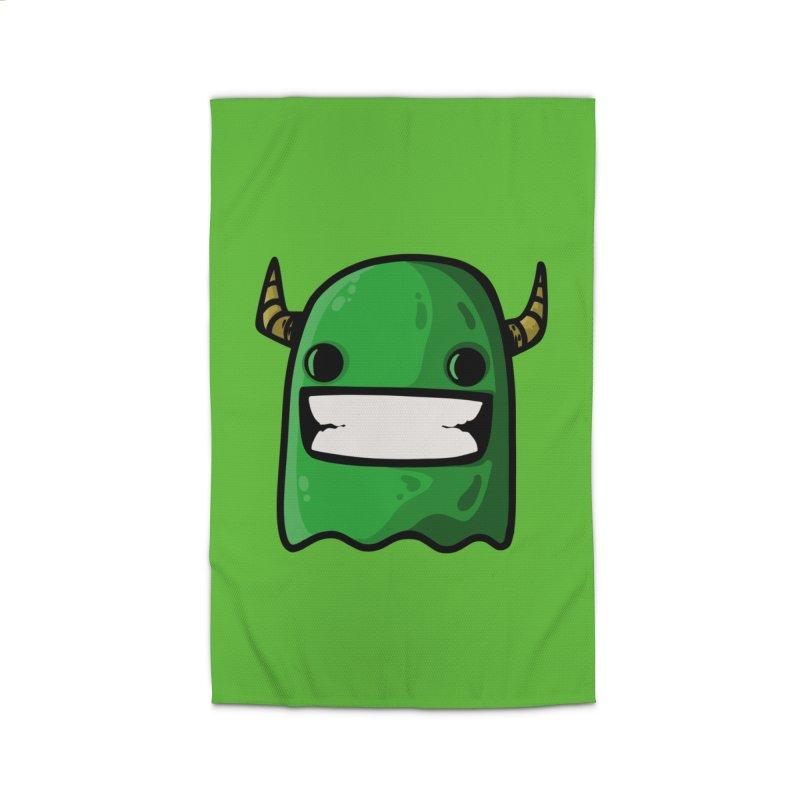 horned ghost green Home Rug by manuvila